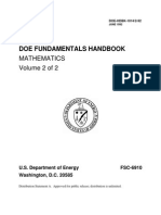 DOE Fundamentals Handbook, Mathematics Volume 2 of 2