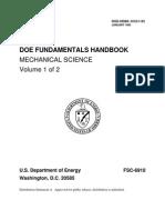 DOE Fundamentals Handbook, Mechanical Science, Volume 1 of 2