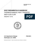 DOE Fundamentals Handbook, Thermodynamics, Heat Transfer, and Fluid Flow, Volume 1 of 3