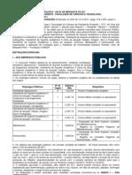Edital 1-2011- Nutricionista e Outros