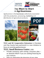 So you Want to Start and Agribusiness