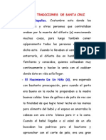 ALGUNAS TRADICIONES DE SANTA CRUZ