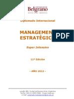 Diplomado Internacional Management Estratégico 11º Edicion 2012