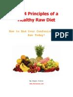 4 Principles Healthy Raw Diet