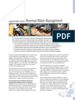 UN; Optimal Non-Revenue Water Management for increasing the number of households receiving safe water
