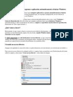 Como ejecutar cualquier programa o aplicación automáticamente al iniciar Windows