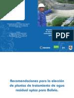 recomendacione elección PTAR bolivia