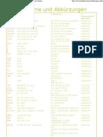 Akronyme und Abkürzungen