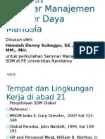 Handout No 08 Seminar MSDM