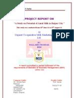 Potential of Amul Milk in Raipur City( BALLABH CHANDAK )