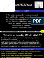 Weekly World Watch 12th October 2008