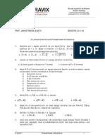 Lista de exercícios - probabilidade