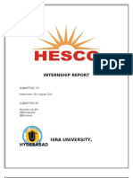 HESCO Intern-ship Report