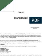 Clase Evaporacion y Evapotranspiracion