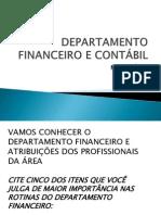 DEPARTAMENTO FINANCEIRO E CONTÁBIL