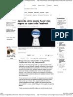 Consejos de seguridad para Facebook - Noticias de Tecnología en Colombia y el Mundo - ELTIEMPO