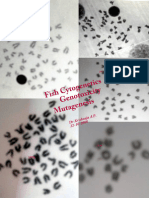 Fish Cytogenetics, Genotoxicity and Mutagenesis.  (5-12-1998)