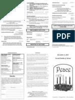 Bulletin - 20111204 2nd Advent