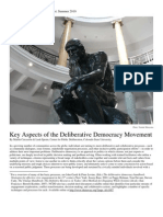 Key Aspects of Deliberative Democracy