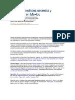 Las 10 sociedades secretas y poderosas en México