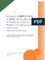 INFORME CONPES 3674 DE 2010