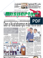 Despertar de Sonora. edicion 22 de octubre del 2008