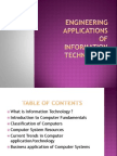 Engineering Applications of IT s