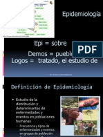 EPIDEMIOLOGIA 1ERA CLASE