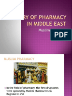 History of Pharmacy in Middle East and China