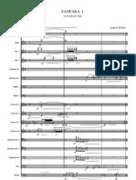 FANFARA I wind orchestra score (2007)