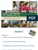 Session 1 Introduction to the Literacy and Numeracy Strategy