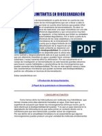 FACTORES LIMITANTES EN BIODEGRADACIÓN