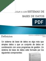Intro. Sistemas de BD