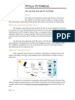 Stand Alone PV System Design Using PVSyst