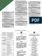 Calendário Acadêmico 2012 Universidade do Vale do Itajaí