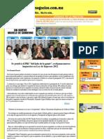 02-12-11 Se pondrá el PRI del lado de la gente, rechazan nuevos impuestos