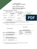 PRC Deck Form