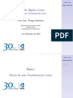 Aula de Álgebra Linear - 1 de Dezembro