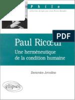 JERVOLINO.paul Ricoeur - Une Hermeneutiq