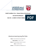 Learning Log - Front Page