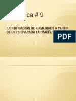 Identificación de alcaloides a partir de un preparado