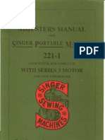 SingerFW 221-1 Adjuster Manual