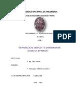 Separacion Mediante Membranas Osmosis Inversa
