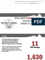 Open-Ended Feedback Summary Cluster-Based Meetings January-March 2011