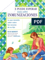 What to Expect Guideto Immunizations Spanish
