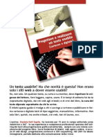 Progettare e realizzare un testo usabile (cartaceo o digitale)