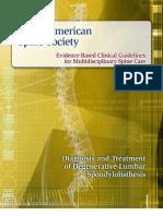 Spondylolisthesis Clinical Guideline