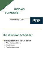 The Windows Scheduler