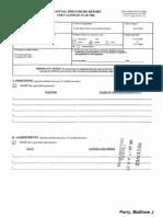Matthew J Perry Jr Financial Disclosure Report for 2008