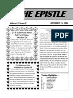 October, 2008 Epistle